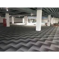 Grey(Base) Square Indoor PVC Room Carpet, For Flooring, Size: 20 X 20 Inch