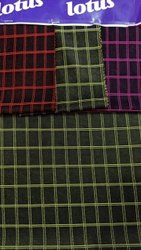 Orchid Check Milan Spandex Fabric