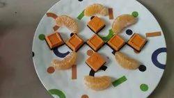 Orange choco chips.