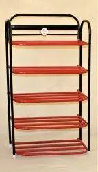 ASE Organizer Multicolor 5 Shelfs rad color capsule shoe rack, Shoe Rack Capacity: 14 Pair Of Shoes, Size: 38*22*11 Inc