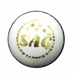 League White Leather Cricket Ball