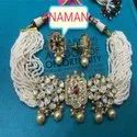 Beautiful Kundan Necklace And Earring Set For Women And Girl Bijoux