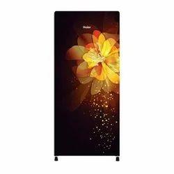 Black Yello Haier 5 Star Decorative Single Door Direct Cool Refrigerator, Model Name/Number: HRD-1955CGG-E, Capacity: 195 Ltr