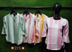 Pink Ladies Printed Rayon Top