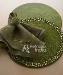Fancy Decorative Beaded  Placemats