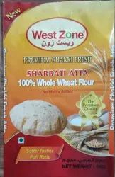 Indian Whole Wheat West Zone Chakki Fresh Atta, Packaging Type: Plastic Bag, 3 Month