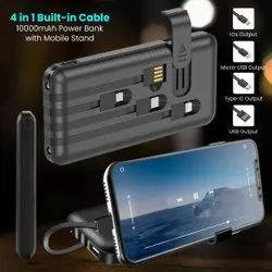 4 Built In Cable Power Bank 10000mAh
