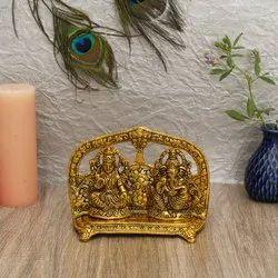 Idols Golden Laxmi Ganesh Idol For Diwali Gifts, Size: 13*19*7