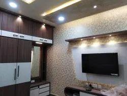 Charu Furniture Brown Designer TV Unit, For Residential, Living Room,Master Bedroom