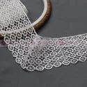 single sided round shape gpo polyester lace