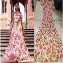 Designer Digital Printed Rayon Dress