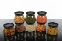 Round Kitchen Storage Matka Shape Container Set Plastic- ( Set Of 8), Size/Dimension: 8 Containers-800 ML