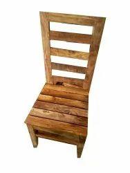 Brown Matte Wooden Chair