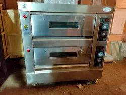 Double Deck Four Tray Gas Bakery Oven