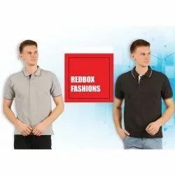 Hosiery Half Sleeve Men Polo Collar T Shirt
