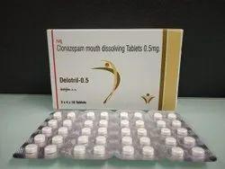 Clonazepam Mouth Dissolving Tablets 0.5 mg.