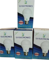 Ceramic Round 7W Lazervivid LED Bulb, For Home