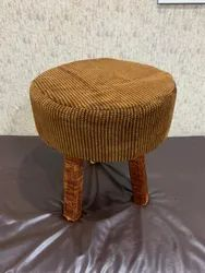 Barkha International Brown Wooden Stool, For Home, 17 Inch