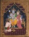 God Ram Tanjore Painting on M.D.F board