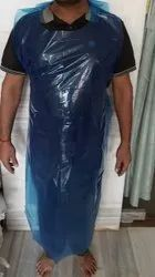 PE Blue Disposable Plastic Aprons, For Safety & Protection, Size: FREE SIZE