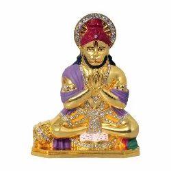 Hanuman Statue with Stone Car Dashboard Idol