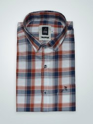 Roman Island Multicolor Formal Checks Shirt, Machine wash