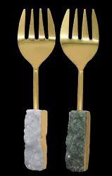 White And Grey Dekor Druzy Brass Kanta, Size: 9.5 X 2.25 Inch