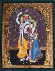 Radha Krishana Tanjore Painting