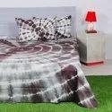 Shibori Tie Dye Printed Bed Sheet
