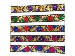 2mm Embroidered Jacquard Border Lace