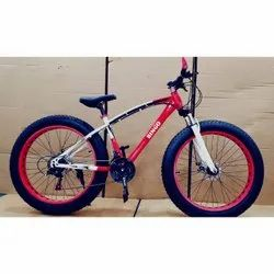 Memronics Carbon Steel Red Sleek Fat 21 Gears Cycle, Model Name/number: Bmw, Size: 26 Inch