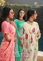 Wedding Wear Printed Kashvi Creation Mirai Heavy Weight Less, With Blouse Piece