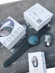 Men Round Fossil Black Watch, For Daily
