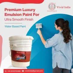 High Sheen White Premium Luxury Emulsion Paint, For Interior, Packaging Type: Bucket