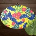 Irya Lifestyle Oval Printed Clutches
