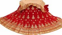 Sara Selection Georgette Ladies Embroidered Lehenga Choli, 2.5 M