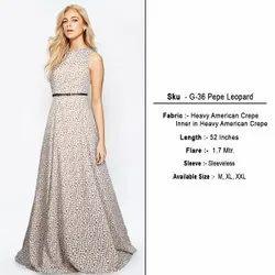 Ladies Pepe Leopard Printed Gown