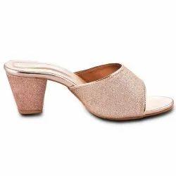 Foam Ladies Heel Pink Sandle, For Casual Wear, Size: 7