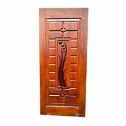 Standard Brown Wooden Entrance Door, For Home