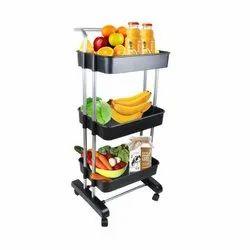 Ciplaplast Mild Steel Kitchen Trolley Rack, For Kitchen & Bathroom