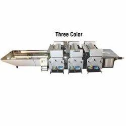 Three Color Flexo Paper Cum Board Printing Machine