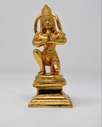 Gold Plated Hanuman Statue