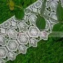 Big size white polyester gpo lace