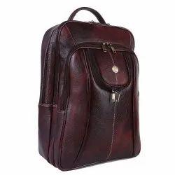 Hammonds Flycatcher Genuine Leather Brown Laptop Backpack