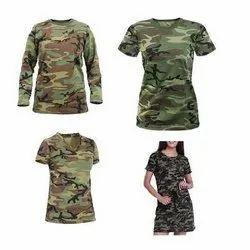 Womens Length Camo T-Shirt