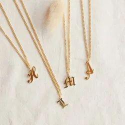 Brass Alphabets Pendant