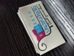 Custom woven clothing tag