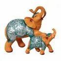 Polyresin Elephant Mother Baby Figurine / Statue