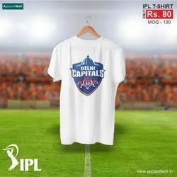 Half-sleeves Dry-Fit Delhi Capital T Shirts, Size: S to XXL