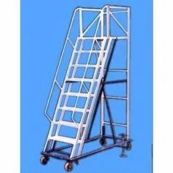 Aluminium Wheel Ladder Statue Ladder